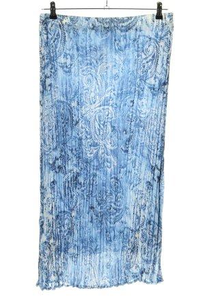 Bonita Faltenrock blau-weiß Allover-Druck Elegant