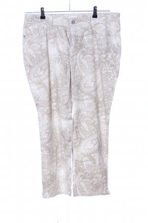 Bonita Five-Pocket-Hose weiß-braun Blumenmuster Casual-Look
