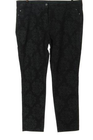 Bonita Five-Pocket Trousers black abstract pattern casual look