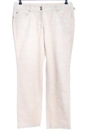 Bonita Pantalon cinq poches blanc cassé-blanc imprimé allover