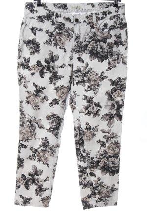 Bonita Pantalone cinque tasche bianco-grigio chiaro stampa integrale