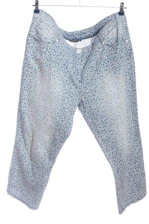 Bonita Five-Pocket-Hose hellgrau-blau Allover-Druck Casual-Look