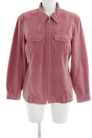 Bonita Fleecejacke pink Street-Fashion-Look