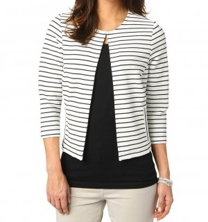 *BONITA* gestreifter Blazer für Damen, Farbe schwarz/weiß, Gr. L / neuwertig - NP 69,99€!