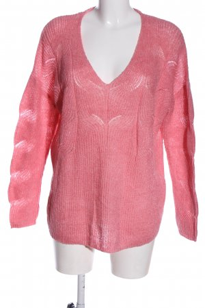 Bonita Crochet Sweater pink casual look