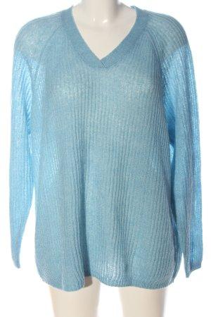 Bonita Häkelpullover blau Casual-Look
