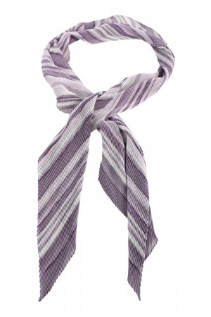 Bonita Pañoleta lila-gris claro estampado repetido sobre toda la superficie