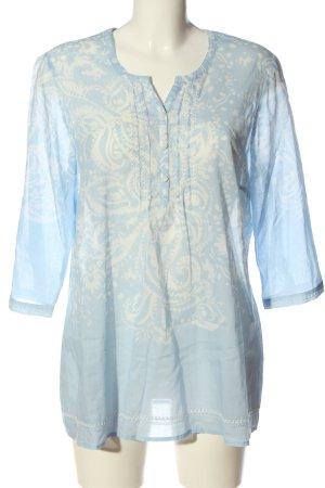 Bonita Hemd-Bluse blau-weiß abstraktes Muster Casual-Look