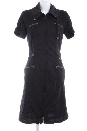 Bonita Hemdblusenkleid schwarz Business-Look