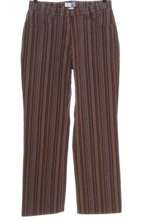 Bonita High Waist Jeans brown-cream striped pattern casual look