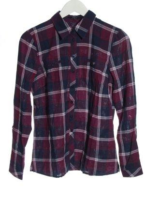 Bonita Chemise de bûcheron rouge-noir imprimé allover élégant