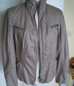 Bonita Biker Jacket beige polyester