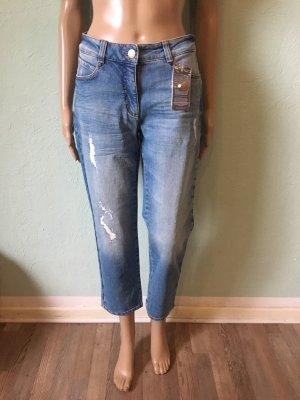 Bonita Jeans 3/4 bleuet-bleu azur