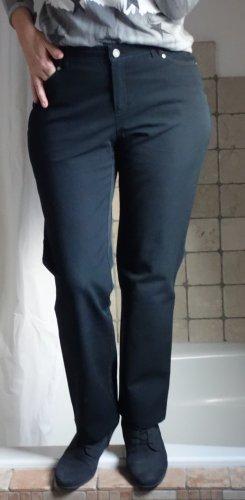 Bonita Jeans, dunkelblau, navy blau, gerader Schnitt, hoher Bund, sehr elastisch, sehr bequem, ohne Waschungen, auch für Business geeignet, 94% Baumwolle, 6% Elasthane, neuwertig, Gr. 38, Gr. M