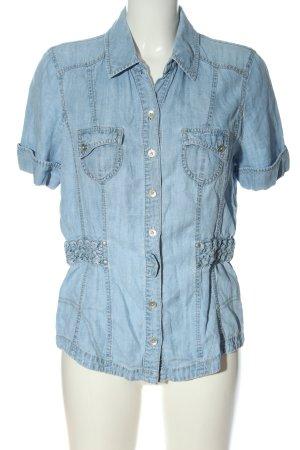 Bonita Chemise en jean bleu style décontracté