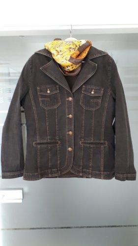 Bonita Jeansowa kurtka czarno-brązowy