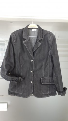 Bonita Jeansjacke schwarz Gr. 42 mit Spitze