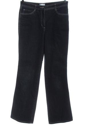 Bonita Jeans a zampa d'elefante nero stile casual