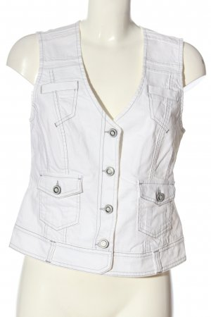 Bonita Gilet en jean blanc style décontracté