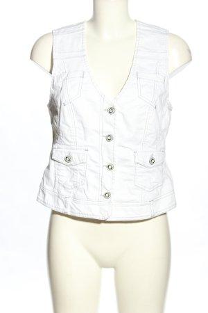 Bonita Denim Vest white casual look