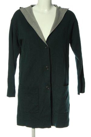 Bonita Abrigo con capucha caqui-gris claro moteado look casual