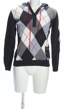 Bonita Hooded Sweater check pattern casual look
