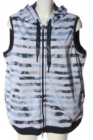 Bonita Hooded Vest abstract pattern casual look