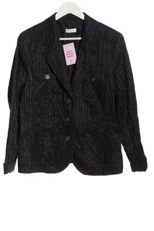 Bonita Klassischer Blazer zwart gestreept patroon zakelijke stijl