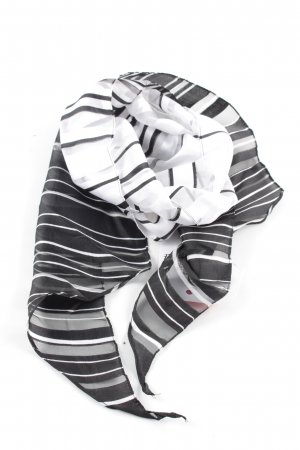 Bonita Corbata negro-blanco estampado a rayas look casual