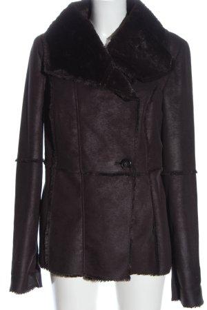 Bonita Giacca in eco pelliccia marrone stile casual