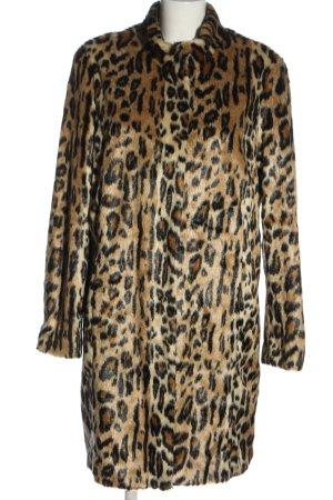 Bonita Manteau en fausse fourrure motif animal style décontracté