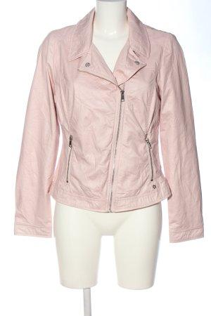 Bonita Faux Leather Jacket pink casual look