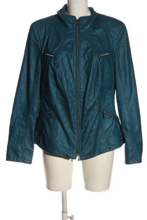 Bonita Veste en cuir synthétique bleu motif de courtepointe élégant
