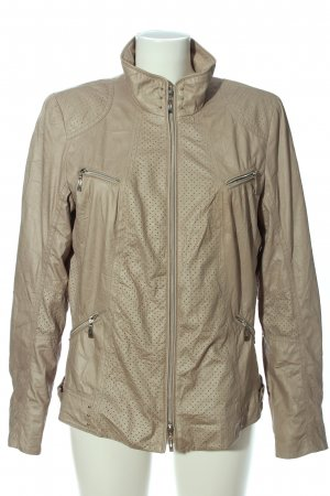 Bonita Faux Leather Jacket beige casual look