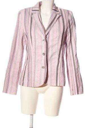 Bonita Kurz-Blazer pink-braun Streifenmuster Casual-Look