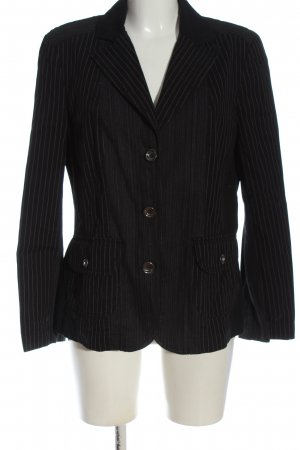 Bonita Korte blazer zwart-lichtgrijs zakelijke stijl