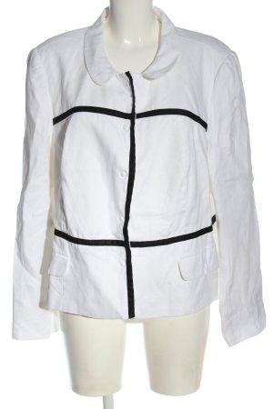 Bonita Blusenjacke weiß-schwarz Casual-Look