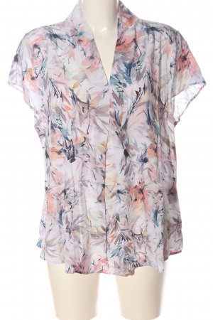 Bonita Short Sleeved Blouse pink-blue abstract pattern casual look