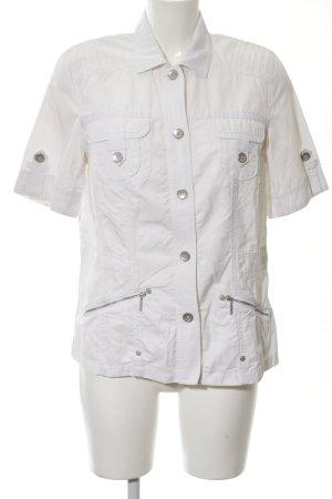 Bonita Kurzarm-Bluse weiß Street-Fashion-Look