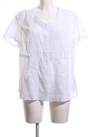 Bonita Kurzarm-Bluse weiß schlichter Stil