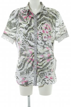 Bonita Kurzarm-Bluse abstraktes Muster Casual-Look