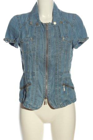 Bonita Kurzarm-Bluse blau Casual-Look