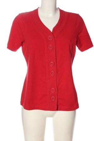 Bonita Cardigan a maniche corte rosso stile casual