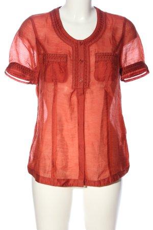Bonita Kurzarm-Bluse rot Casual-Look