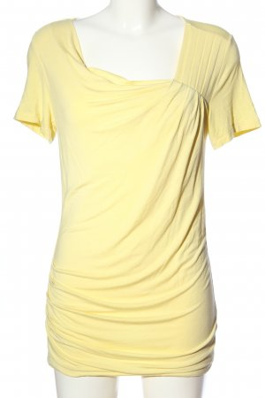 Bonita Kurzarm-Bluse blassgelb Casual-Look