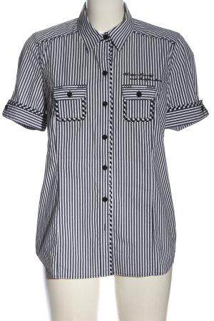 Bonita Shirt met korte mouwen zwart-wit geborduurde letters casual uitstraling