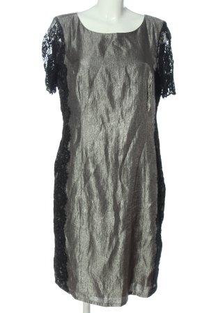 Bonita Kurzarmkleid silberfarben-schwarz Elegant
