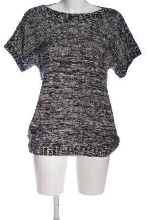 Bonita Short Sleeve Sweater light grey-black flecked casual look