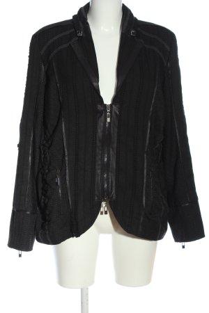 Bonita Krótka kurtka czarny Wzór w paski W stylu casual