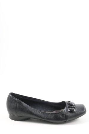 Bonita Bailarinas de charol con tacón negro look casual